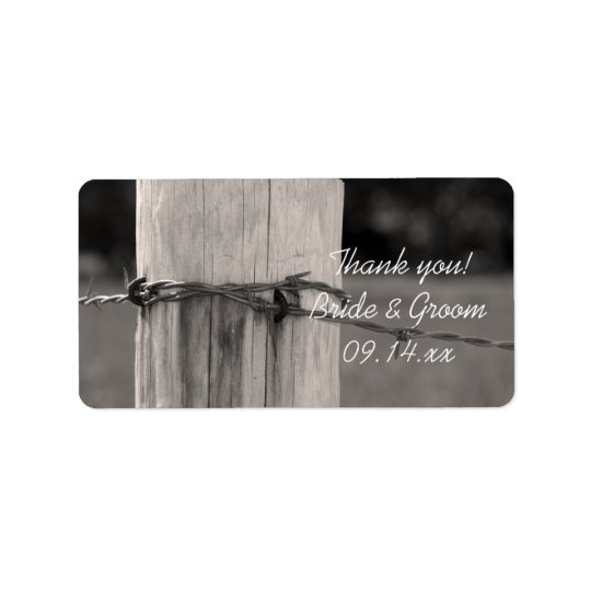 Fence Post Country Wedding Thank You Favour Tags Address Label