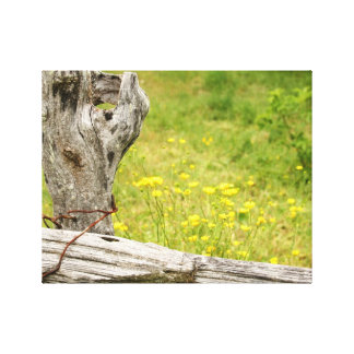 Fence Post Wrapped Canvas Gallery Wrapped Canvas