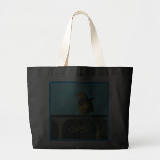 Fence Sitter Monogrammed Jumbo Tote Bag
