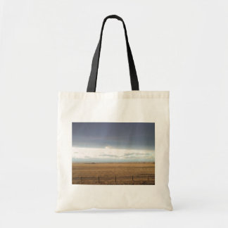 Fenced Field In Canada Canvas Bags