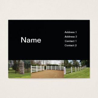 fences business card