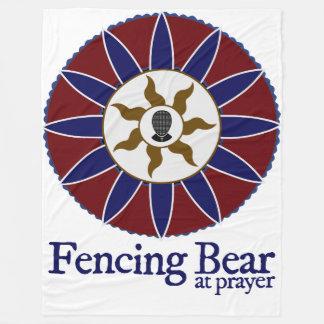 Fencing Bear at Prayer Blanket