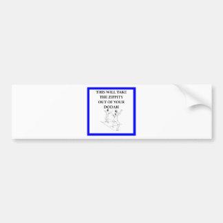 fencing bumper sticker