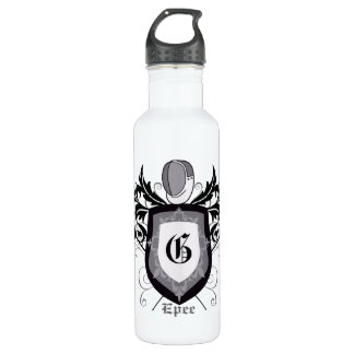 Fencing Epee Crest Silver 710 Ml Water Bottle
