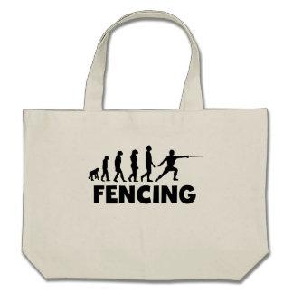 Fencing Evolution Canvas Bag