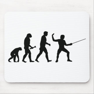 Fencing Evolution Mouse Pad