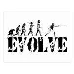 Fencing Fencer Epee Foil Sabre Evolution Sport Art Post Card