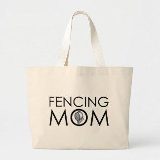 Fencing Mom Canvas Bag