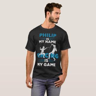 Fencing T-Shirt Philip Name Shirt Apparel Gift
