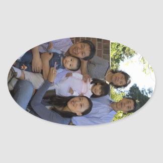 Feng Lu Family Oval Sticker