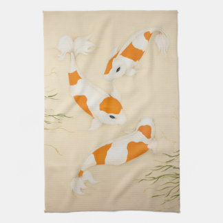 Feng Shui Koi Fishes Towel