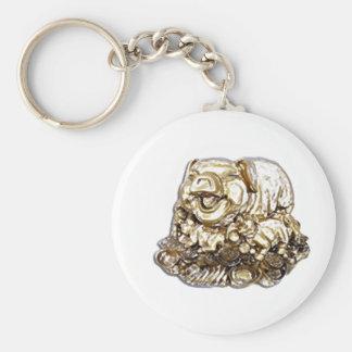 Feng Shui Pig Basic Round Button Key Ring