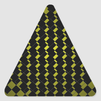 FengShui Fusion Army Green Black Geometric Hipster Triangle Sticker