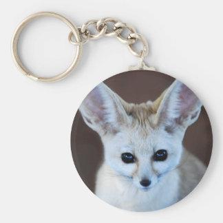 Fennec Fox Basic Round Button Key Ring