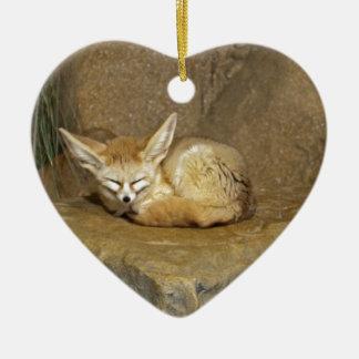fennec fox ceramic ornament