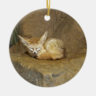 fennec fox ceramic ornament