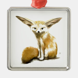 Fennec Fox Metal Ornament