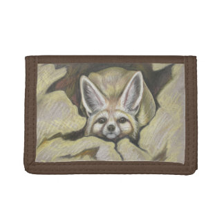 Fennec fox trifold wallet