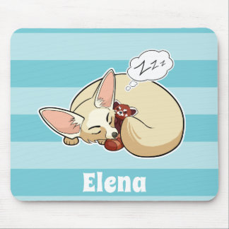 Fennec Fox With Red Panda - Personalized Animal Mouse Pad