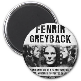Fenrir Greyback Wanted Poster 6 Cm Round Magnet