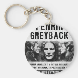 Fenrir Greyback Wanted Poster Basic Round Button Key Ring