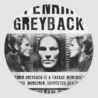 Fenrir Greyback Wanted Poster Round Sticker
