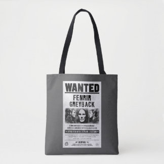 Fenrir Greyback Wanted Poster Tote Bag