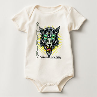 Fenrir said to be the son of Loki Baby Bodysuit