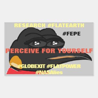 "FEPE (Alt,) ""PERCEIVE FOR YOURSELF"" (Rct.Sticker) Rectangular Sticker"