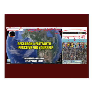 FEPE Globexit Research Flat Earth Postcard