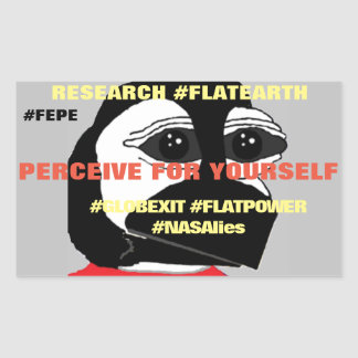"FEPE (YOUTH) ""PERCEIVE FOR YOURSELF"" (Rct.Sticker) Rectangular Sticker"