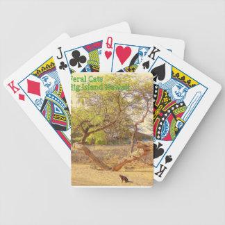 Feral Cats Big Island Hawaii Poker Deck