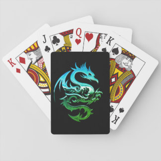 Feral Chrome Dragon Playing Cards