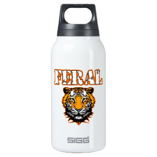 Feral Gear Designs - Feral Tiger Head Orange 0.3L Insulated SIGG Thermos Water Bottle