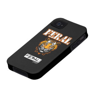 Feral Gear Designs - Feral Tiger Head Orange Vibe iPhone 4 Cases
