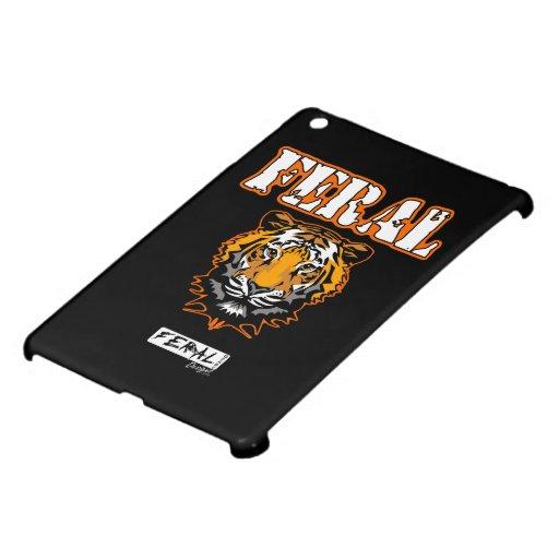 Feral Gear Designs - Feral Tiger Head Orange iPad Mini Covers