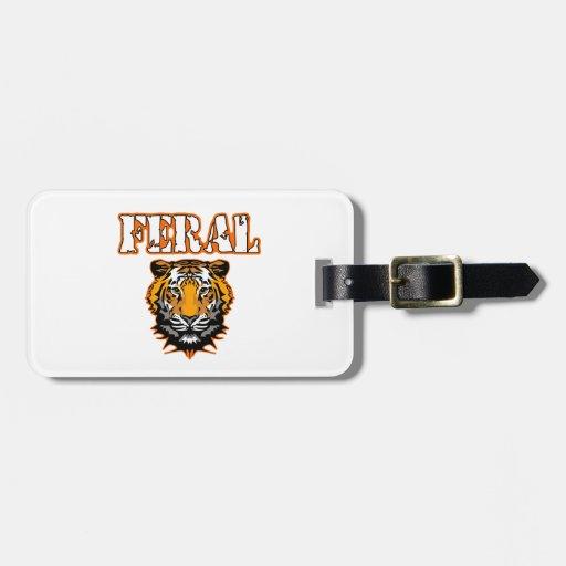 Feral Gear Designs - Feral Tiger Head Orange Luggage Tag