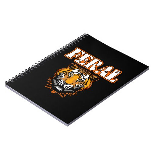 Feral Gear Designs - Feral Tiger Head Orange Spiral Notebooks