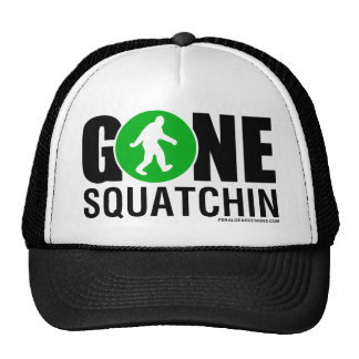 Feral Gear Designs - Gone Squatchin Green Black Hats