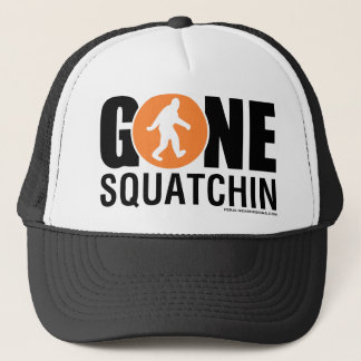 Feral Gear Designs - Gone Squatchin Orange Black Trucker Hat