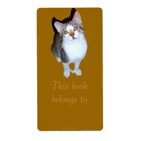 "Feral Kitten ""Hemming"" Bookplate Shipping Label"