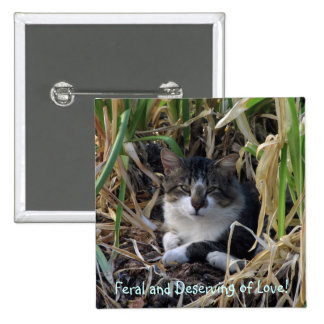Feral Kitty Button