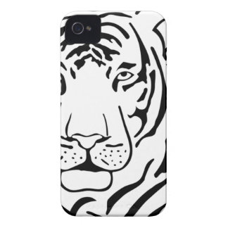Feral Tiger Drawing Case-Mate iPhone 4 Cases