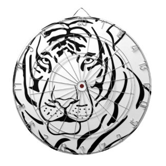 Feral Tiger Drawing Dartboard