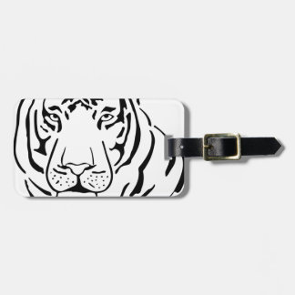 Feral Tiger Drawing Luggage Tag