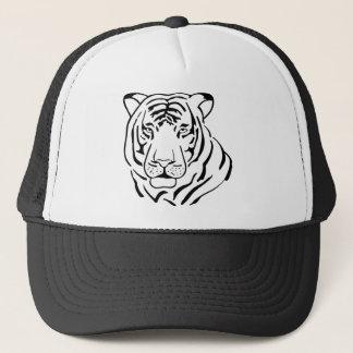 Feral Tiger Drawing Trucker Hat