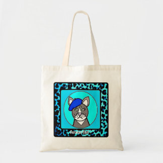 Feralartist Portrait Small Budget Tote for Artists Budget Tote Bag