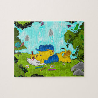 Ferald | Drawing By The Waterfall Jigsaw Puzzle