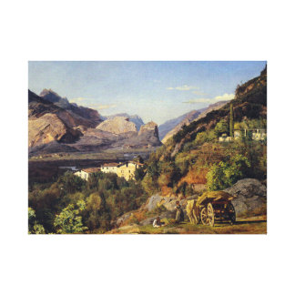 Ferdinand Georg Waldmüller Mountains of Arco Riva Canvas Print