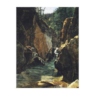 Ferdinand Georg Waldmüller Rettenbach-gorge Ischl Canvas Print